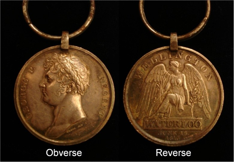 Figure 4 - The final Waterloo Medal configuration in fine silver
