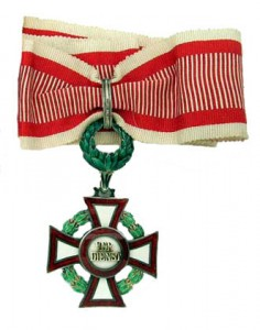 Military Merit Cross Second Class with second award of the war decoration second class (Authorized March 14, 1918)