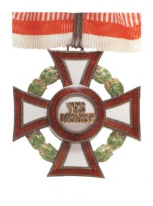 Military Merit Cross Second Class with war decoration second class (September 23, 1914-1918)