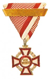 Military Merit Cross third Class with war decoration and Second award bar (Authorized March 14, 1918)