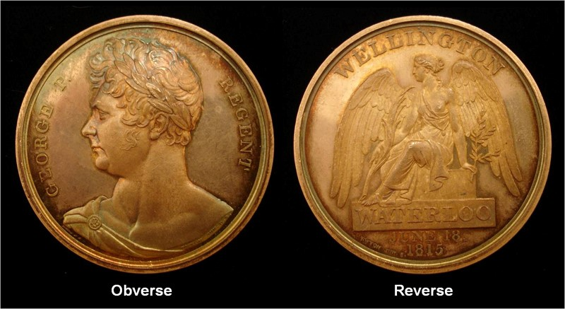 Figurre 2 - A rare officer's trial pattern Waterloo Medal