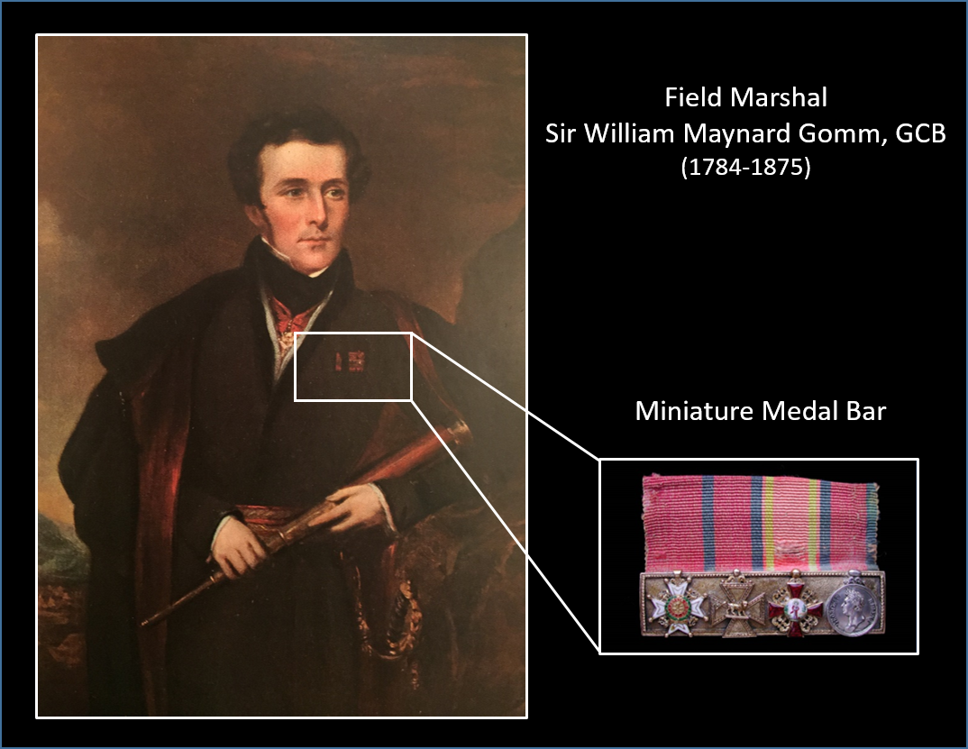 Sir William Maynard Gomm K.C.B wearing his Badge of a K.C.B. and his miniatures on his left breast.