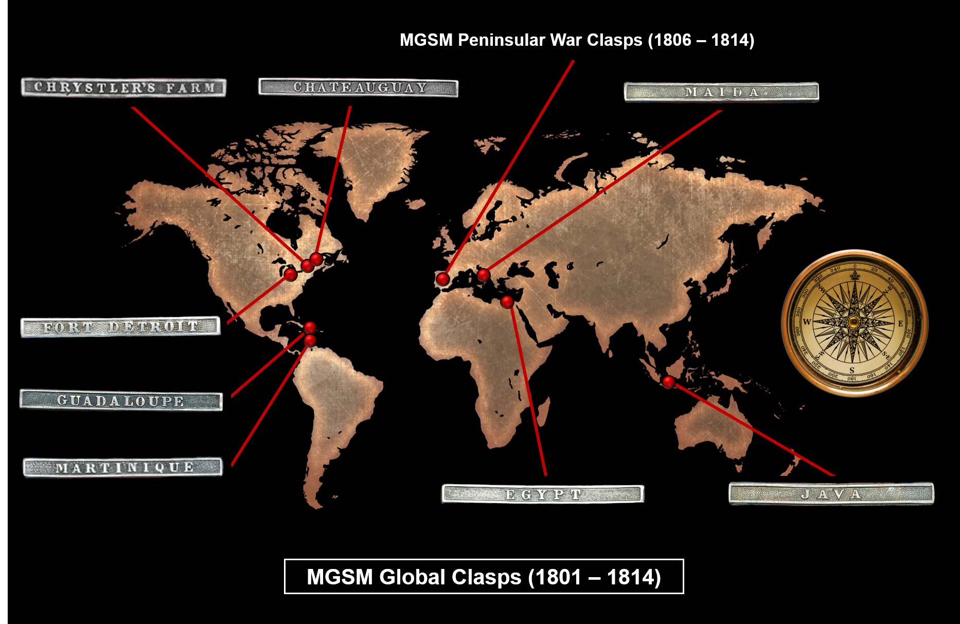 Figure 4 - Global Clasps of the Military General Service Medal