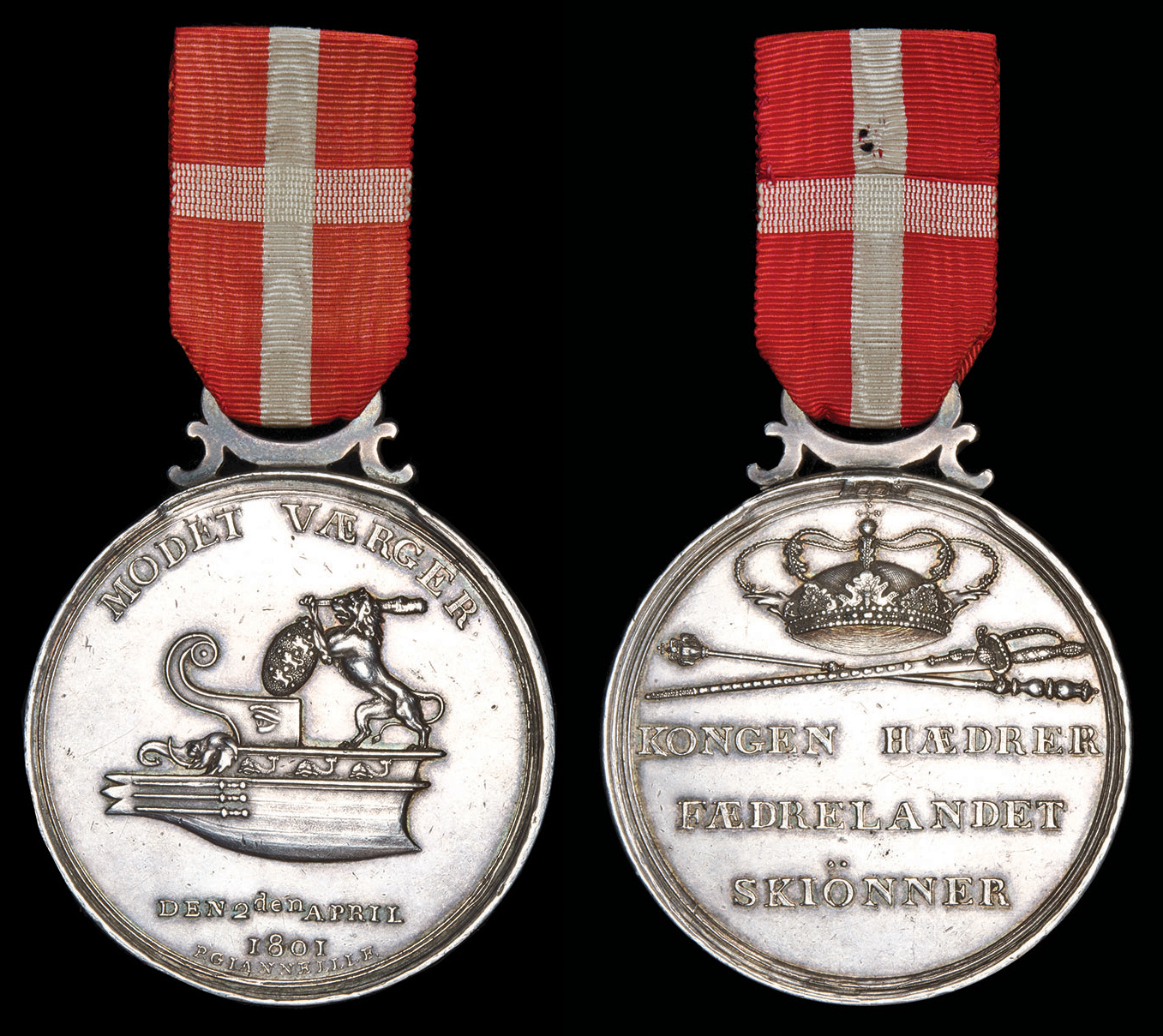 Silver medal with suspension