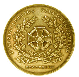 Military Maria Theresia Order Archduke Karl Gold Jubilee Medal, reverse, picture from the authors photo archive