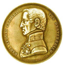 Military Maria Theresia Order Archduke Karl Gold Jubilee Medal, obverse,Picture from the authors photo archive