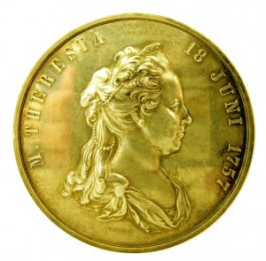 Figure 1: Military Maria Theresia Order 100 Year Jubilee Medal, Gold, Image courtesy of Dorotheum