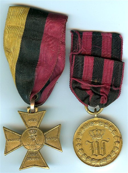 Figure 1- Obverse of the pair of Officer's awards