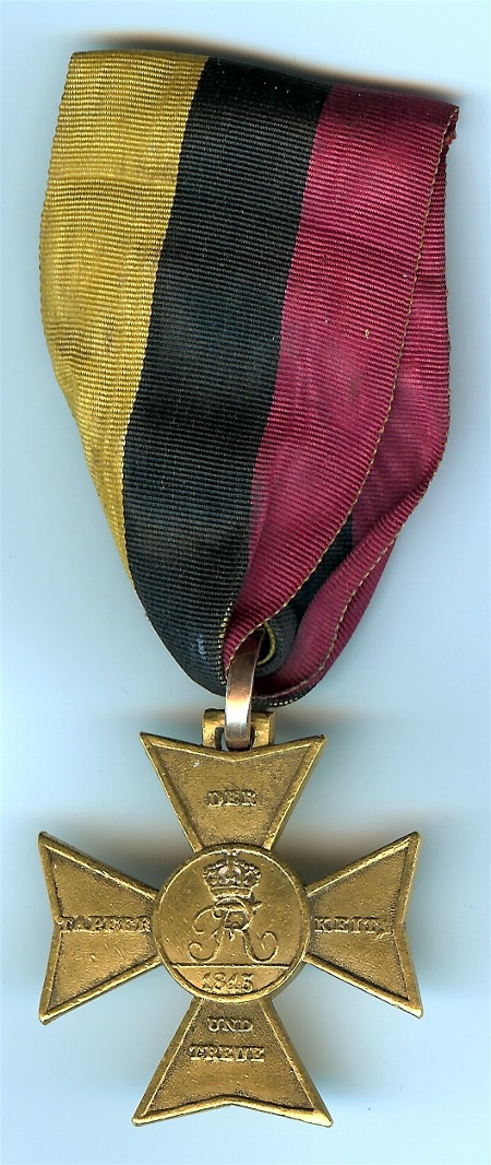 Figure 2- Obverse of the Golden Honor Award for the 1815 campaign