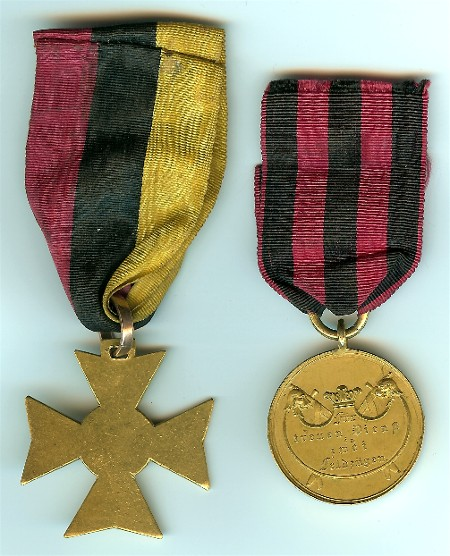 Figure 5-Reverse of the pair of Officer's awards