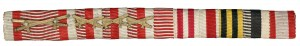 Figure 18: WWI era ribbon bar with multiple war ribbons. From the author's archive