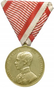 Figure 8: 1849 Bravery Medal on war ribbon. Image from author's archive