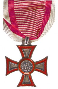 Figure 7: Military Merit Cross on war ribbon: image from author's archive