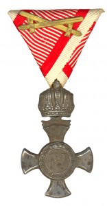 Figure 16: Iron Merit Cross with swords on war ribbon: Image form author's archive