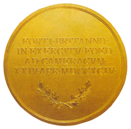Figure 5: The Honor Medal for English Cavalrymen Reverse, from the authors archive