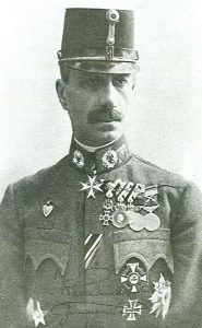 Figure 13: Generaloberst Eduard Freiherr von Bohm-Ermolli wearing the Military Merit Cross First Class with war decoration and swords: Image from the author's archive)