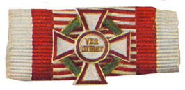 Figure 12: Ribbon for the Military Merit Cross first class with war decoration first class. Image from the authors archive