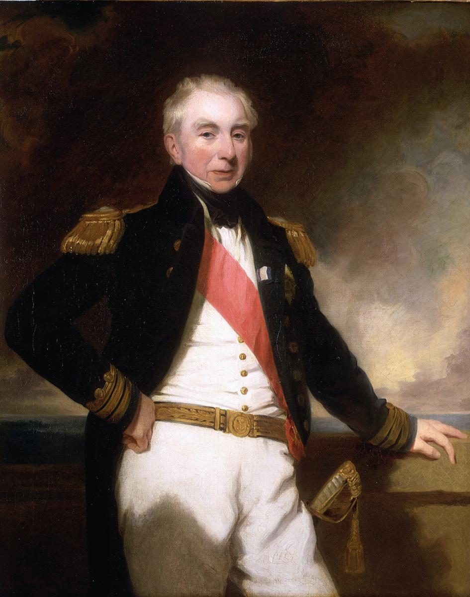 Admiral Robert Stopford (1768-1847)  *oil on canvas *127 x 101.6 cm  *mid 19th century