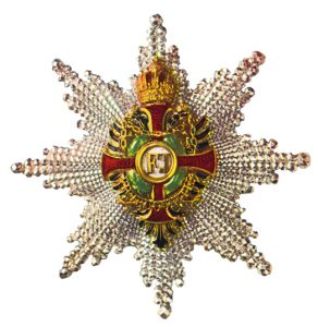 Figure 12: Imperial Austrian Franz Joseph Order grand cross star and star to the commander with star with war decoration of a lower class. Image from the author's archive.