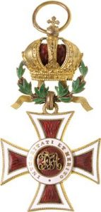 Figure 3: Austrian Imperial Leopold order badge with war decoration. Image courtesy of Dorotheum
