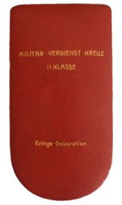 Figure 13: Military Merit Cross Second Class case. Image from the author's archive.