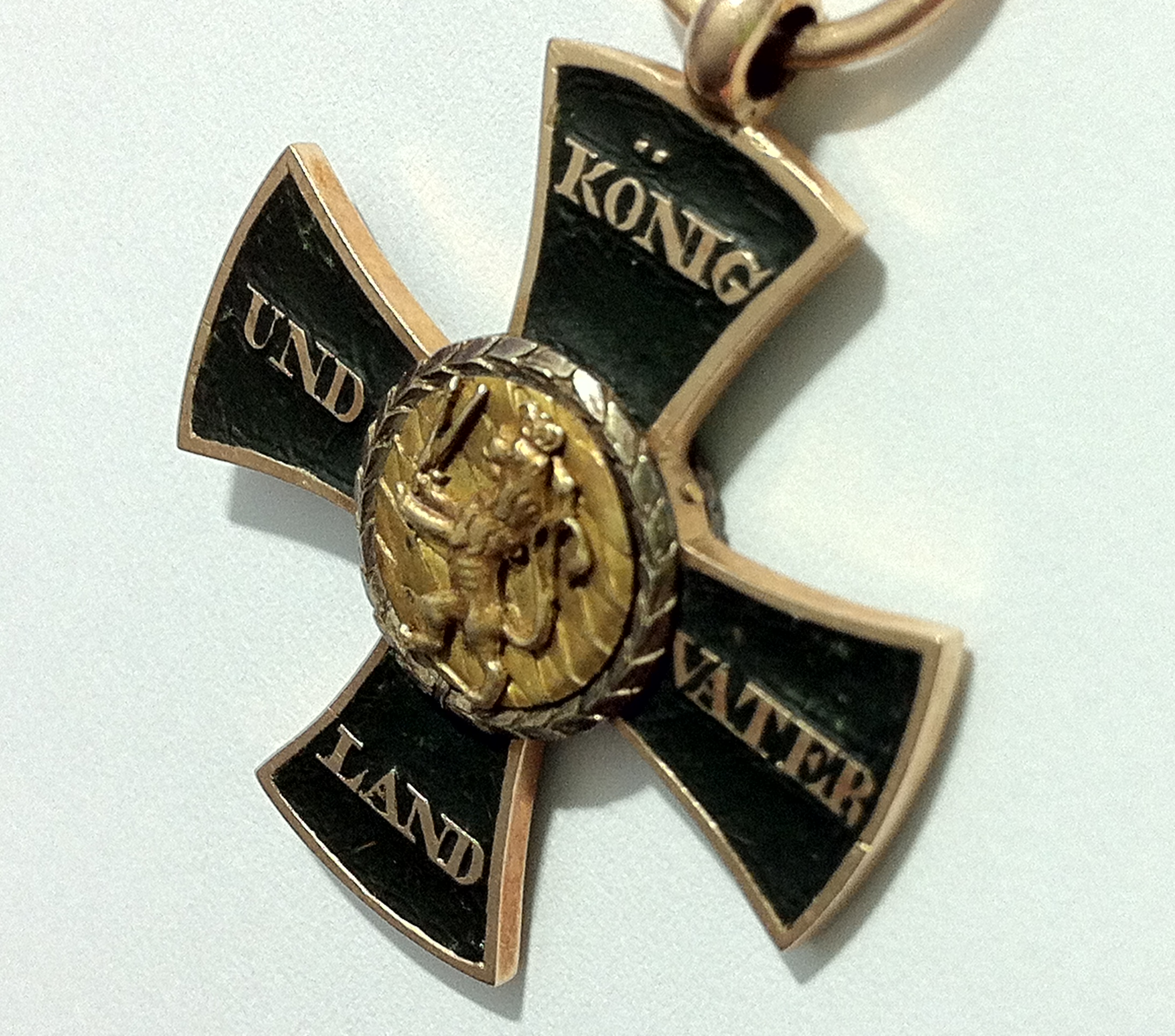 Figure 5: Detail of the reverse of the custom-made cross. Image from author's archive.