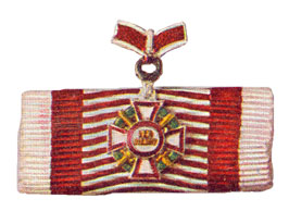Figure 11: Ribbon for the Military Merit Cross Second class with a second award of the war decoration second class and swords second class. Image from the author's archive