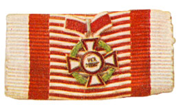 Figure 12: Ribbon for the Military Merit Cross Second class with war decoration second class. Image from the author's archive