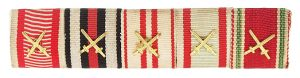 Figure 10: Ribbon bar with Military Merit Cross with swords. Image form author's archive.