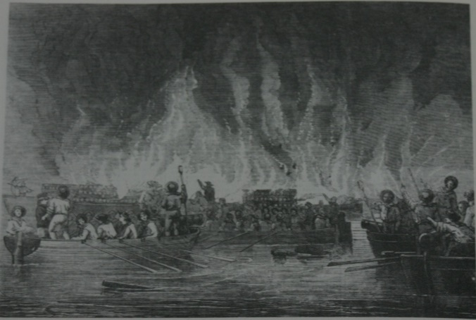 Boats of HMS Conflict 24 Sept 1855