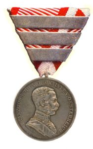 Figure 3: Franz Joseph Silver Bravery Medal, first class with forth award bar. Image courtesy of Dorotheum