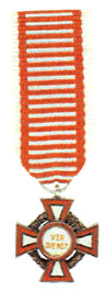 Figure 16: Military Merit Cross with war decoration, third class, miniature. Image from the author's collection.