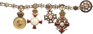 Figure 17: Military Merit Cross with war decoration, third class on Franz Joseph order chain. Image from the author's archive.
