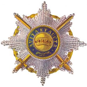 Figure 5: The Order of the Iron Crown, Knight First Class Star with war decoration and swords. Image form the author's archive.