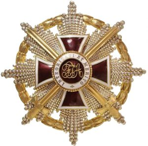 Figure 1: The Order of Leopold, Grand Cross Star with swords.