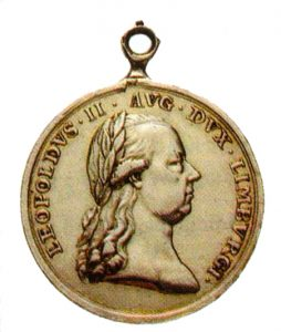 Figure 2: Gold Limburg Volunteers Medal, obverse. Image from the author's archive.