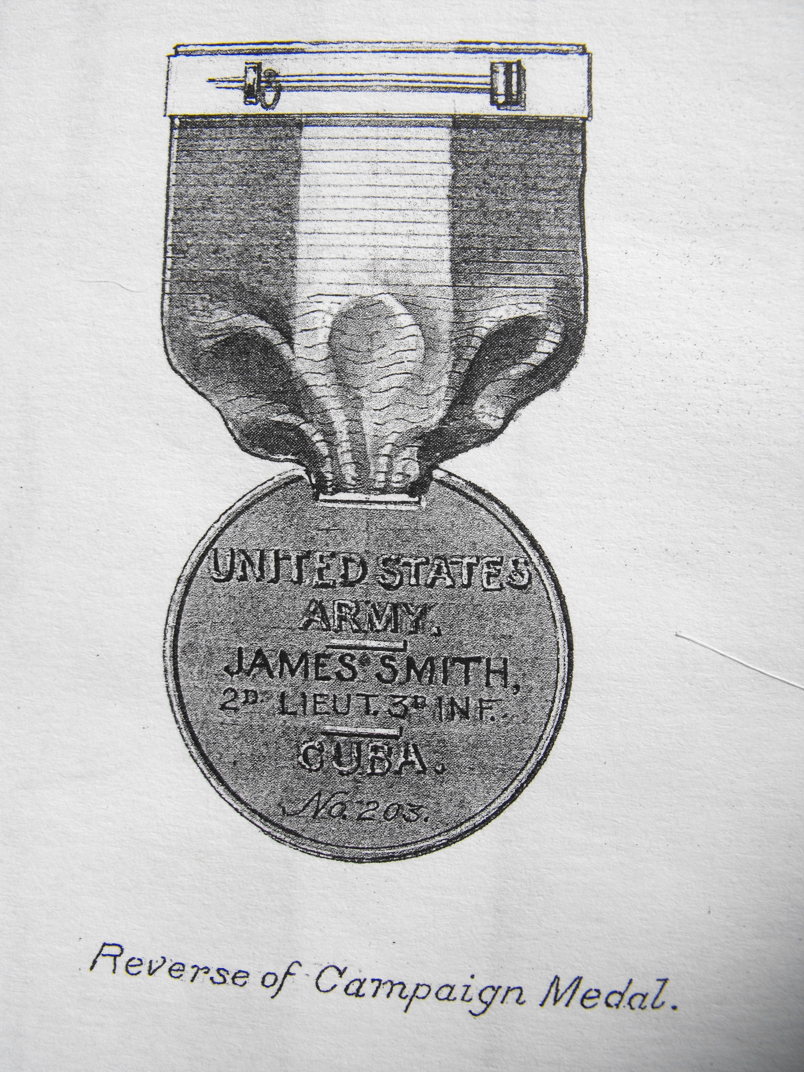 Initially Campaign Medals Would be Both Named and Numbered (Note Suspension)