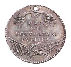 Figure 3: Emperor Leopold II Silver Military Merit Medal for the Netherlands, reverse. Image courtesy of  Dorotheum.