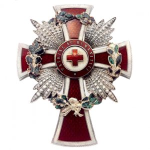 Figure 1: Red Cross Merit Star with war decoration. Image from the author's archive.