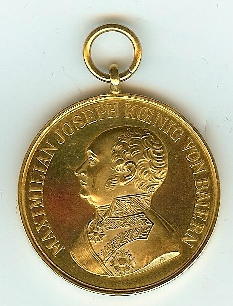 Figure 6-Obverse of Adolf Fichtner's Gold Bavarian Bravery Medal. Image from author's archive.