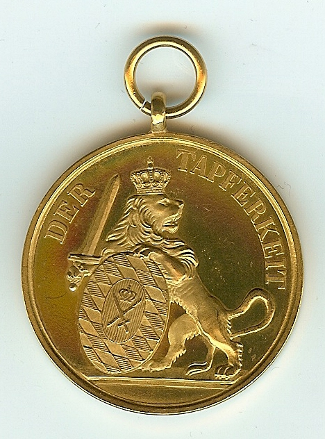 Figure 7-Reverse of Adolf Fichtner's Gold Bavarian Bravery Medal. Image from author's archive.