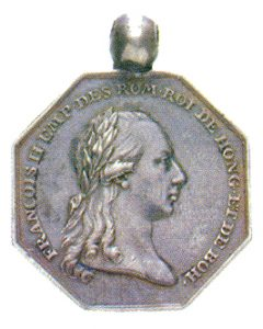 Figure 2: Silver Commemoration Medal for Volunteers of the Netherlands Provence, obverse. Image attributed to Reference Catalogue Orders, medals and decorations of the World, A-D, Borna Barac