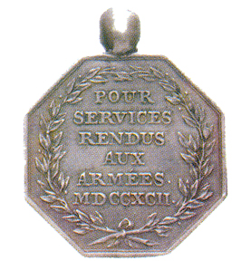 Figure 4: Silver Commemoration Medal for Volunteers of the Netherlands Provence, reverse. Image attributed to Reference Catalogue Orders, medals and decorations of the World, A-D, Borna Barac