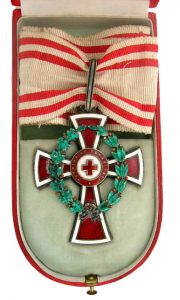 Figure 6: Red Cross First Class Decoration Case, interior, Image from the author's archive.