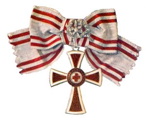 Figure 9: Red Cross Decoration , first class with war decoration on a bow. Image from the author's archive.