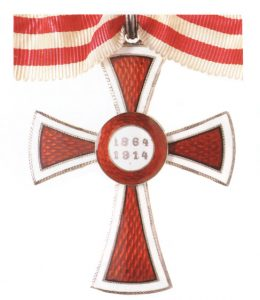 Figure 4: Red Cross Decoration , first class, reverse. Image courtesy of  Dorotheum.