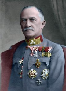 Figure 12: General of Infantry Sandor von Szurmay wearing the Red Cross Decoration   First Class with war decoration. Image from the author's archive.