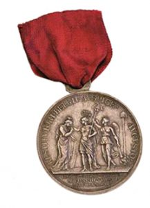 Figure 2: Neerwinden Medal, reverse. Image from author's archive.