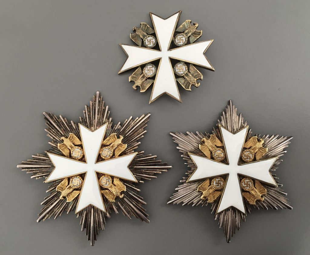 Figure 13: German Eagle Order 2nd Grade, Grand Cross Star and Star to the Merit Cross avers