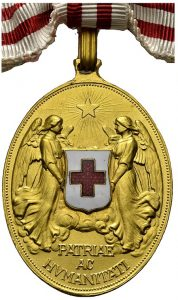 Figure 4: Bronze Red Cross Merit Medal (Gilt version).  Image from the author's archive.